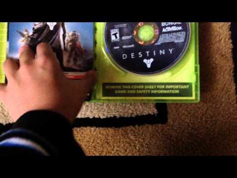 destiny unboxing Xbox 360