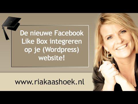 De nieuwe Facebook Like Box integreren op je (Wordpress) website