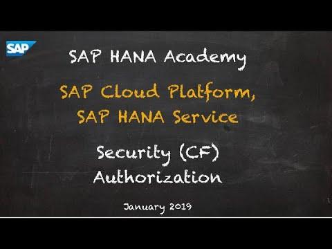 [2.0 SPS 04] SAP HANA Service, Security, Authorization (CF) - SAP HANA Academy