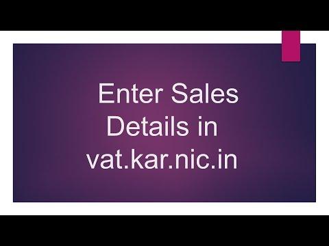 Karnataka VAT Sales details in vat.kar.nic.in