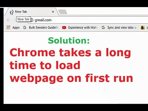 Chrome takes a long time to load website on first run