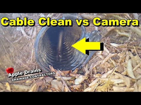 Camera vs Cable Drain Clean, which is better to clean French Drain