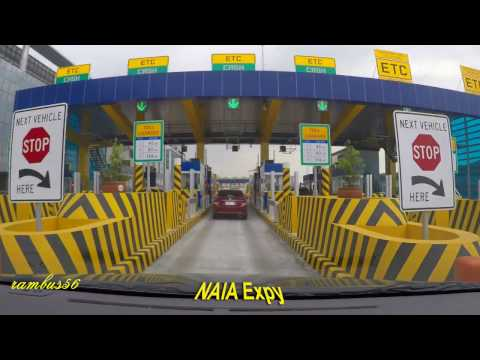NAIA X Expressway Drive Thru from Cavite Coastal Rd NAIA T-1 NAIA - X Skyway SLEX