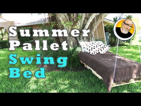 Summer Pallet Swing Bed!