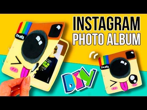 DIY INSTAGRAM photo ALBUM 📸 How to make a KAWAII photo album 🎁 💕