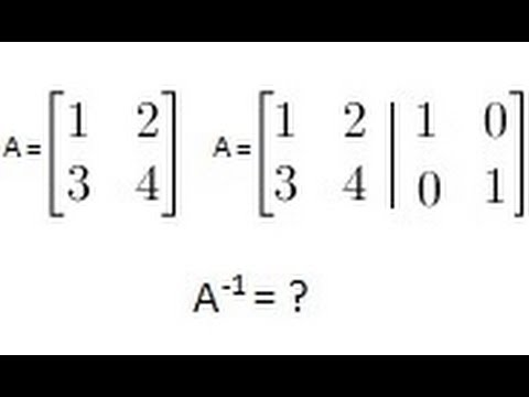 Algebra - Finding the Inverse of a Matrix (2 of 2) A 2X2 Matrix - 2 Methods