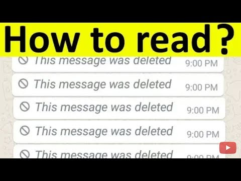 How To Read Deleted Messages On Whatsapp Messenger  This Message Was Deleted