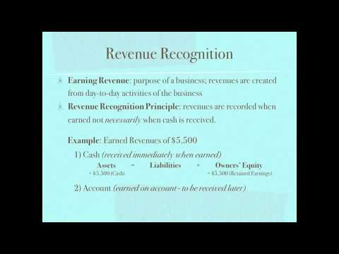 Revenue Recognition Principle and Matching Principle - Accounting video