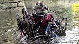 Underwater treasure hunting In the river - Found 10 bikes, computer phone and credit card