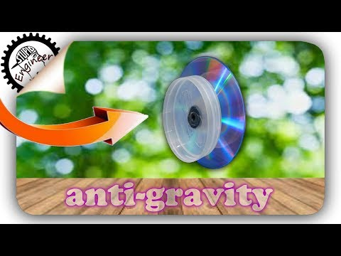 Anti gravity machine | 0 Gravity |  gyroscope | cd disc life hack | homemade toy | Stupid engineer