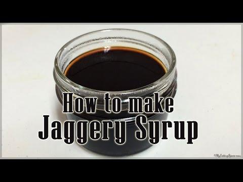 How to make Jaggery Syrup - Sharkara pani