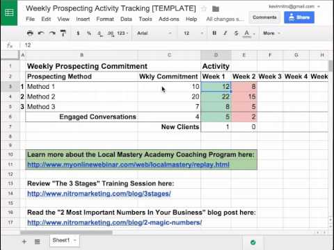 Weekly Activity Tracking Template
