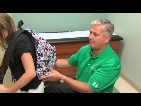 Help your kids prevent backpack pain