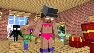 Monster School : Gift Prank - Funny Minecraft Animation