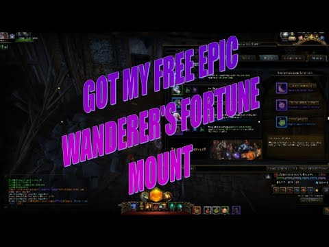 Neverwinter Got My Free Epic Mount With Wanderer's Fortune PC, PS4, XBOX
