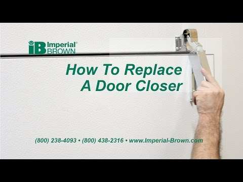 How to Replace a Swing Door Closer on a Walk-in Cooler