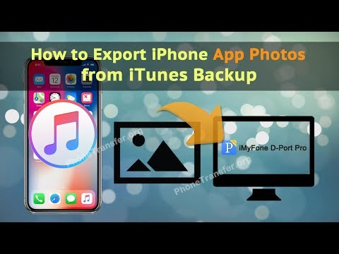 How to Export iPhone APP Photos from iTunes Backup