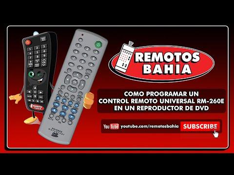 CÓMO PROGRAMAR UN CONTROL REMOTO UNIVERSAL RM-260E EN UN DVD