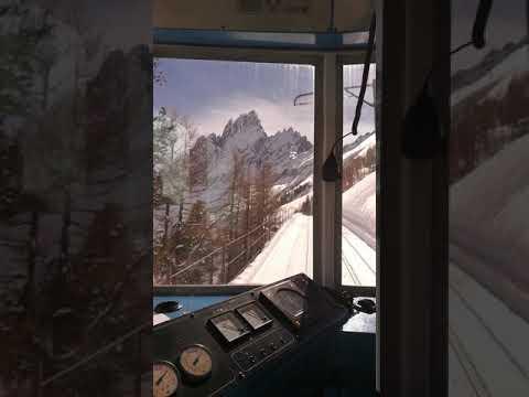 Chamonix train to mountain