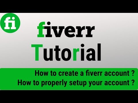 Fiverr Tutorial 2017 | How to create a fiverr account [Part - 1]