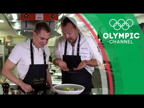 German Figure Skater Peter Liebers Cooks with Chef Hendrik Otto