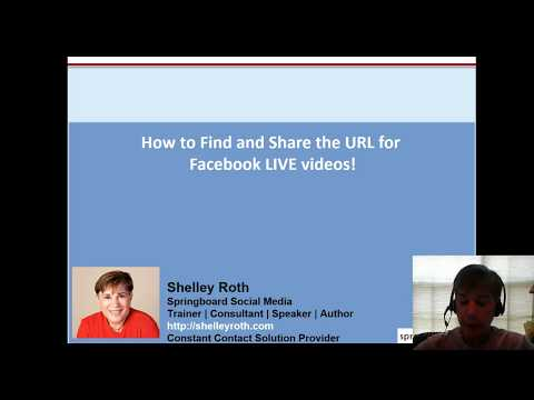 How to Find and Share the Facebook LIVE video URL