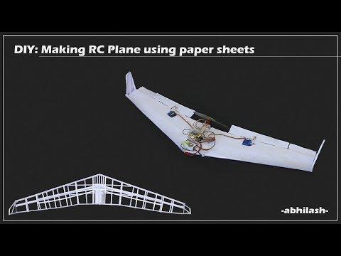 DIY: Making RC plane using Paper Sheets