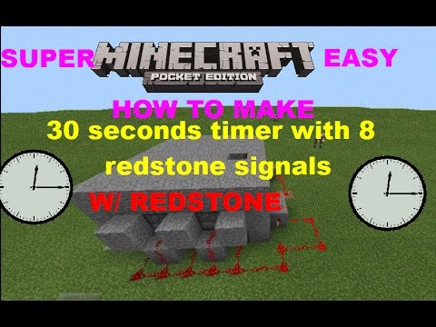 [MCPE 0.15.0] HOW TO MAKE 30 SECONDS TIMER W/ 8 REDSTONE SIGNAL PULSAR | REDSTONE TRAP