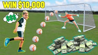 LAST To SCORE A GOAL Wins $10,000 CHALLENGE!   The Royalty Family