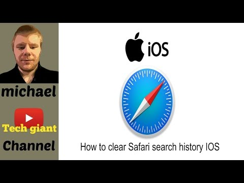 How to clear Safari search history IOS 10