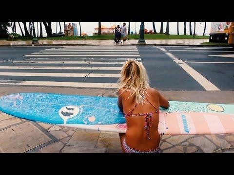 SUBERU Surfing/Lifestyle in Hawaii Episode03 :Surfer Girl Hailey part 1【ハワイサーフィン】