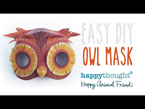 Printable owl mask template + easy costume idea!