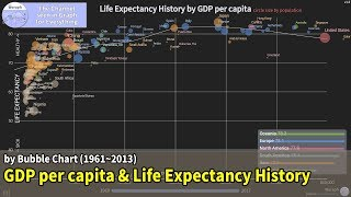Download Life Expectancy History by GDP per capita (1960~2017) Video