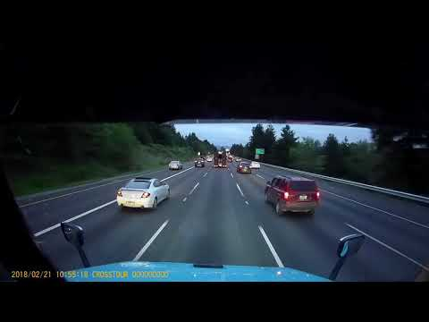 Semi truck crash I5 Multi-Vehicle Pileup 1080p Dash Cam Footage