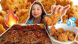 Nuclear Black Bean Noodles & KFC 먹방 Mukbang | Sticky Eating Sounds