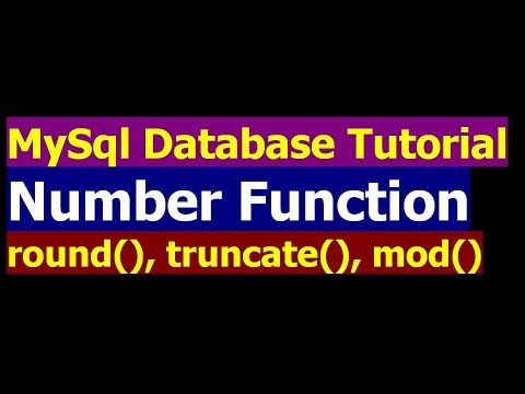 How To Use Number function in SQL SELECT Statement - MySql Database Bangla Tutorial Part 17
