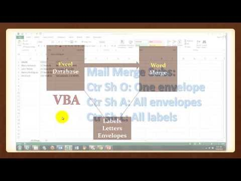 VBA Mail Merge from Excel to Word