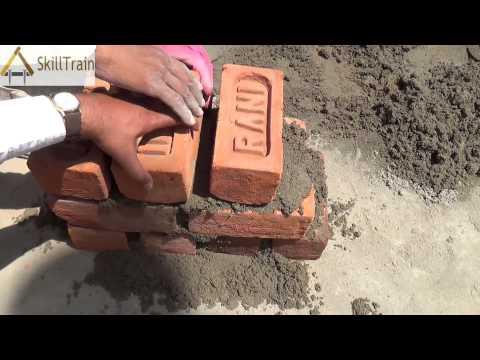 Constructing a full-brick 8-inches Wall (Hindi) (हिन्दी)