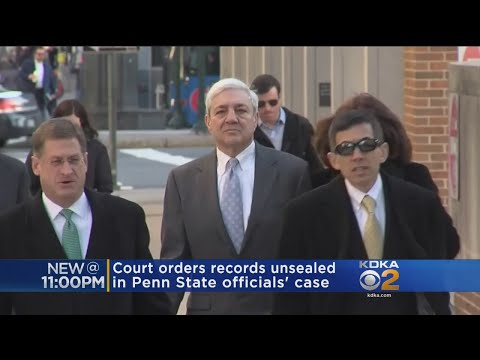 Court Orders Records Unsealed In Penn State Officials' Case