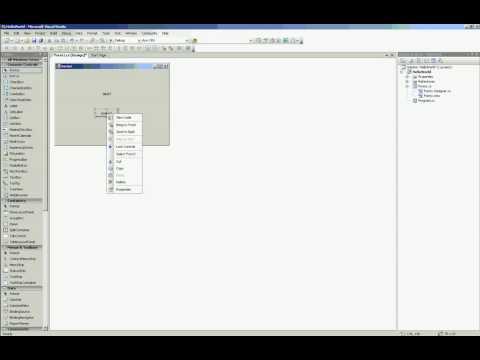 C# Hello World example in Visual Studio 2005