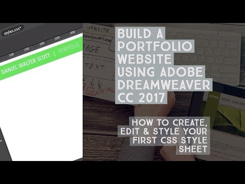 How to create, edit & style your first CSS style sheet - Dreamweaver Templates [8/38]