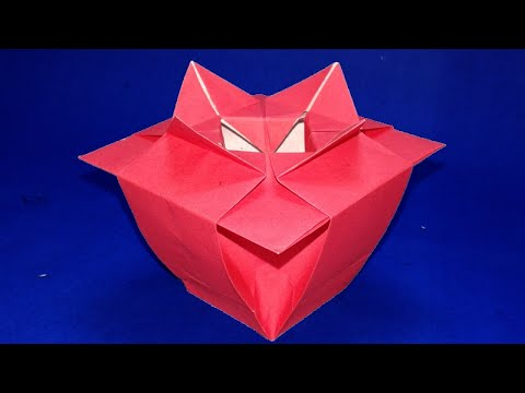 Origami-Vase/ How to make paper Flower Vase/ origami instructions step by step.