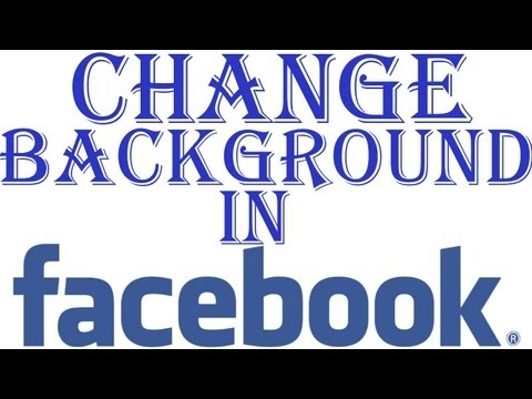 How to Change Facebook Background in Google Chrome  for Free