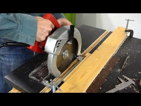 Miter slots for the homemade  table saw