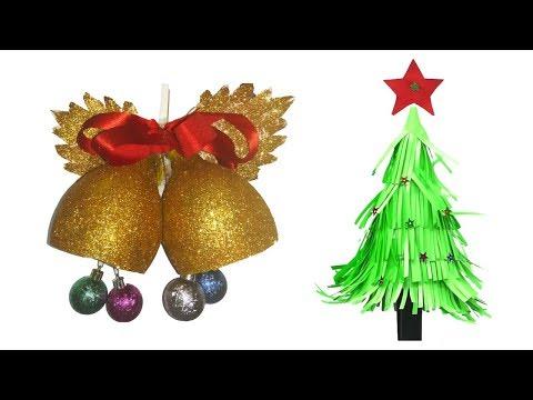 How to make Christmas bell & Christmas Tree | Christmas Craft Ideas in Malayalam