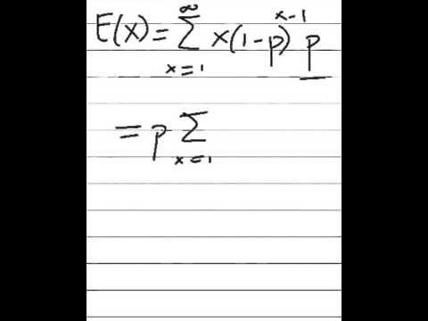 Geometric Random Variable: Expected Value (Mean)