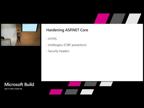 LinkedIn Learning presents: Securing web applications in ASP.NET Core 2.1 : Build 2018