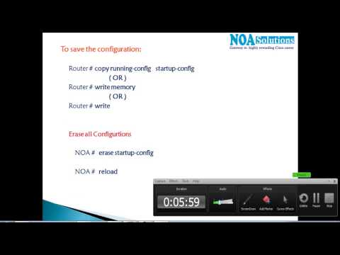 CCNA Routing & Switching : Enable Password - saving configurations