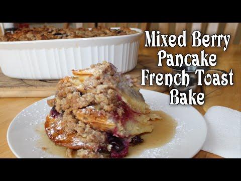Mixed Berry Pancake-French Toast Bake