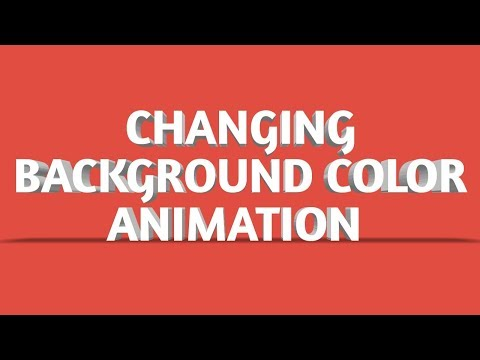 changing background color animation -  html css tutorial